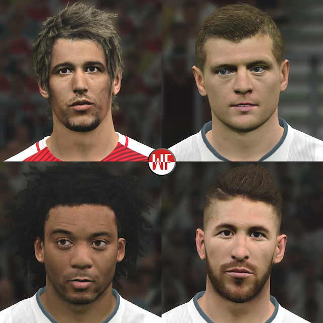 [PES2016 & PES2017] Real Madrid Facepack (5th Facepack)
