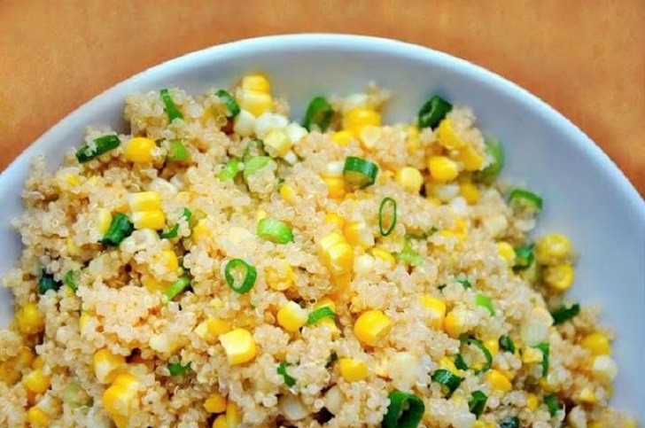 Quinoa Salad with Corn and Scallions