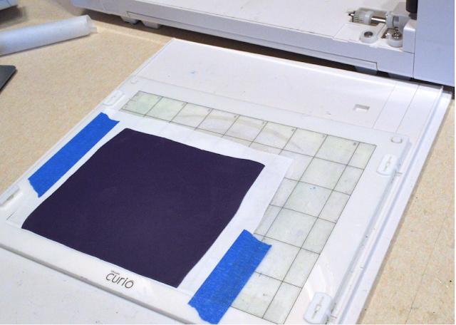 polymer clay silhouette cutting mat platform
