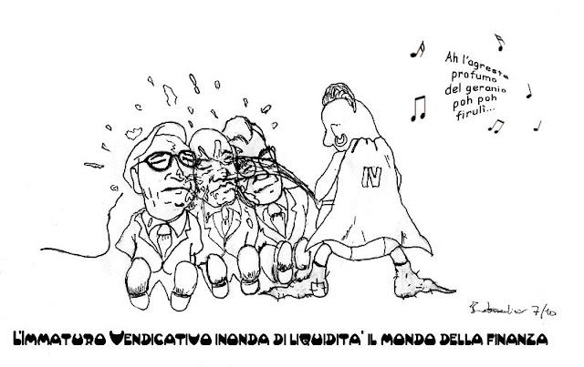 L'Immaturo Vendicativo piscia addosso a tre famosi banchieri italiani.