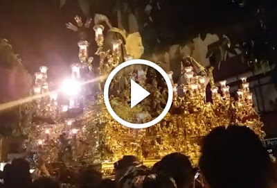 Saludo de San Gonzalo a Virgen de la Estrella Parte 2. Sevilla 2017 en que la Hermandad de San Gonzalo saluda a la Hermandad de la Estrella de Triana el Lunes Santo de 2017 en la Semana Santa de Sevilla