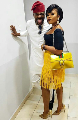 Lovely photo of Ebuka Obi-Uchendu, his wife Cynthia and her $3,290 Gucci bag
