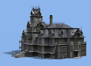 "3D Mansion for TV show ""House on the Hill"""