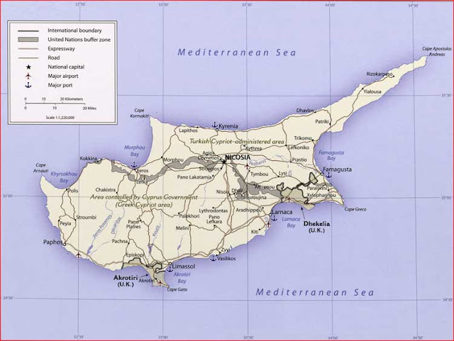 image: Cyprus Political Map