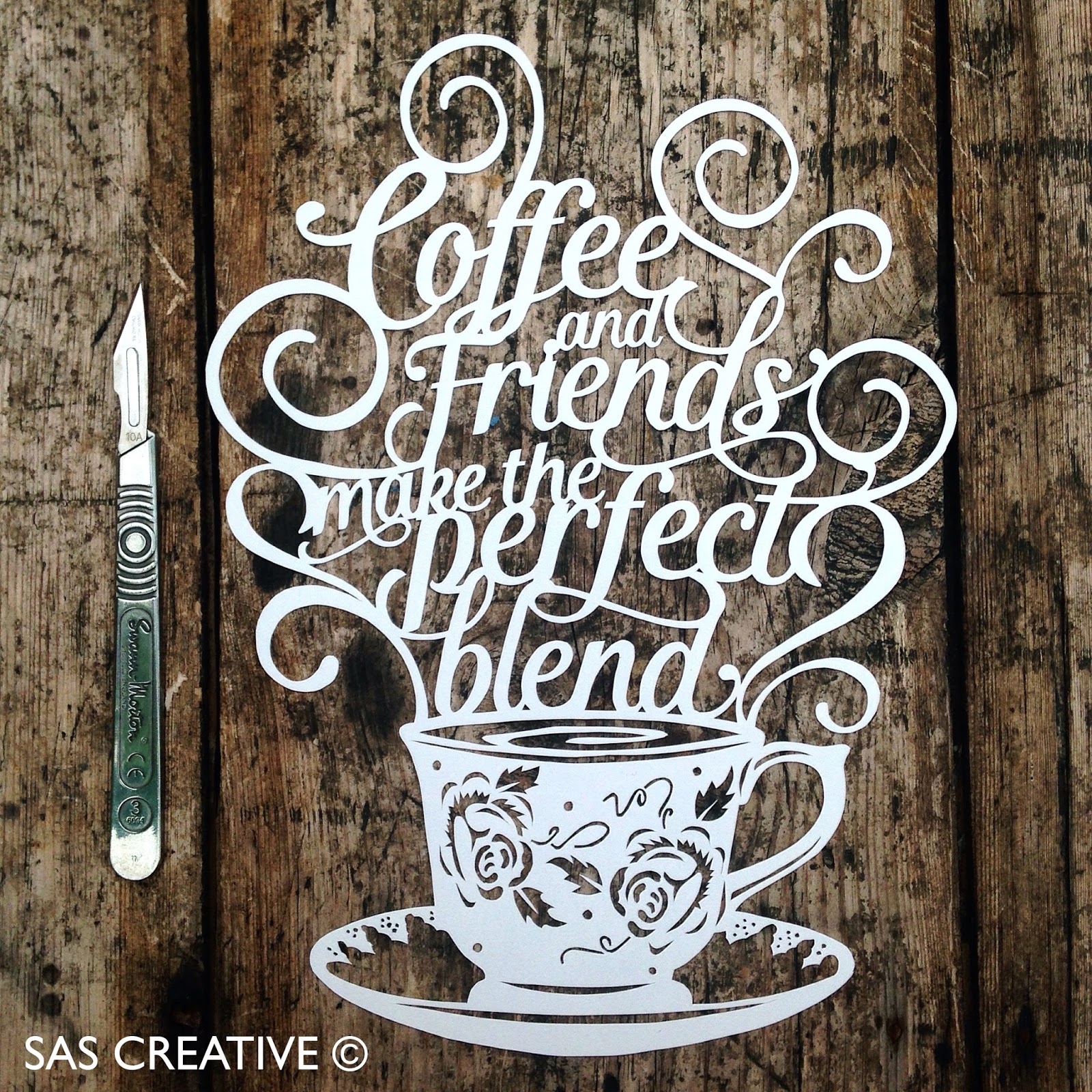 SAS Creative: Coffee & Friends NEW paper cutting template available