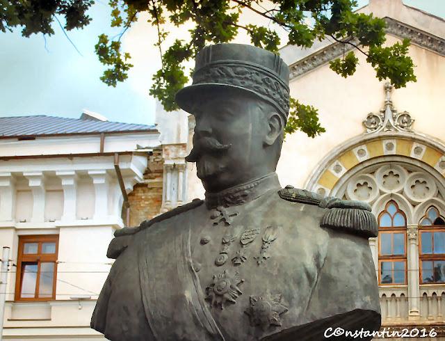 Bustul generalului Bethelot prietenul francez al românilor din Primul Rãzboi Mondial - blog FOTO-IDEEA