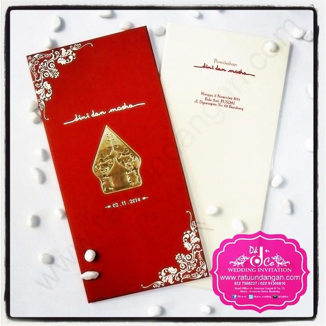 Kartu Undangan Pernikahan Murah Cantik Dengan Warna Merah Dan Emas