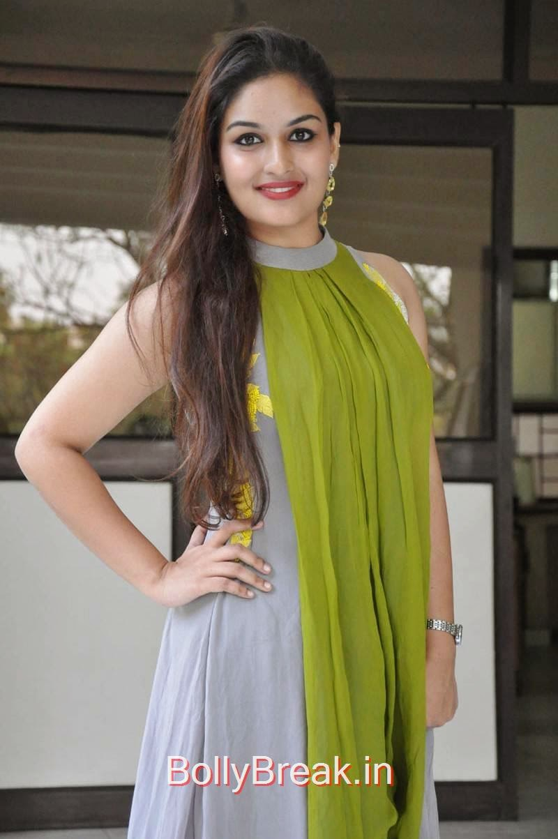 Prayaga Martin Pics At Pisachi Movie Success Meet, Actress Prayaga Martin Hot HD Images in Green dress