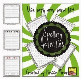 http://www.teacherspayteachers.com/Product/Generic-Spelling-Activities-to-Use-With-Any-List-of-Words-965146
