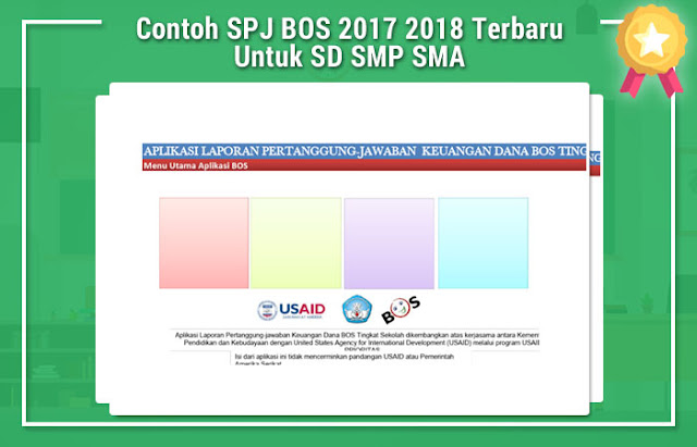 Contoh SPJ BOS 2017 2018 Terbaru Untuk SD SMP SMA