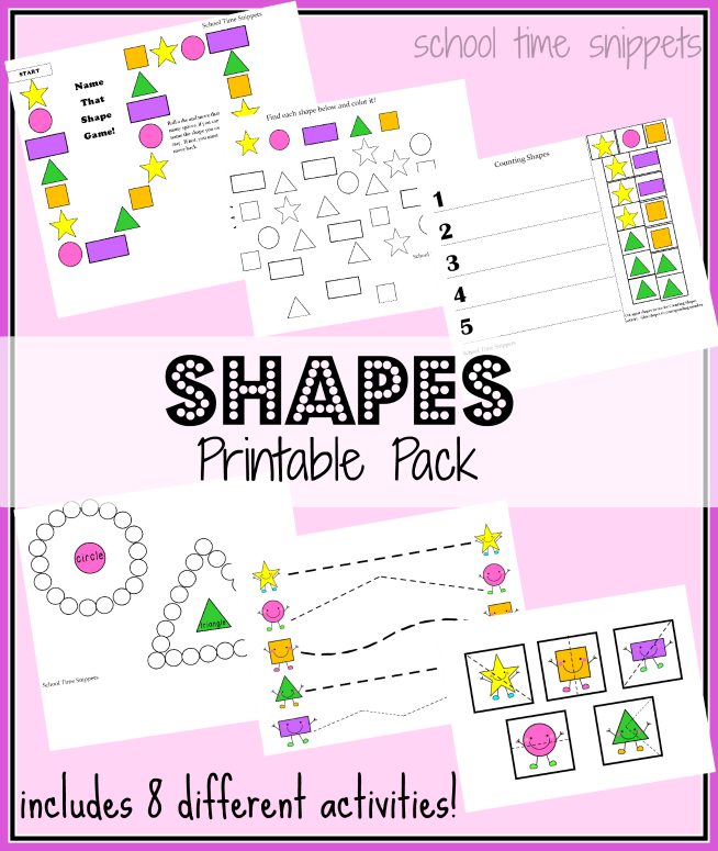 photograph about Free Printable Shapes referred to as Absolutely free Designs Printable Pack: Contains 8 Option Functions