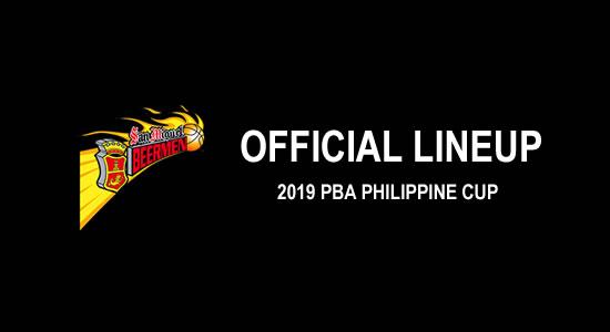 LIST: San Miguel Beermen Official Lineup 2019 PBA Philippine Cup