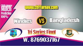 BAN vs WI Final Match Prediction Today Who Will Win Tri Series