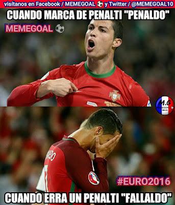 Cristiano Ronaldo falla penal ante Austria memes