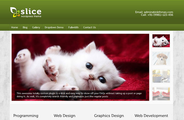 Slice Wordpress Theme Free Download by InkThemes.