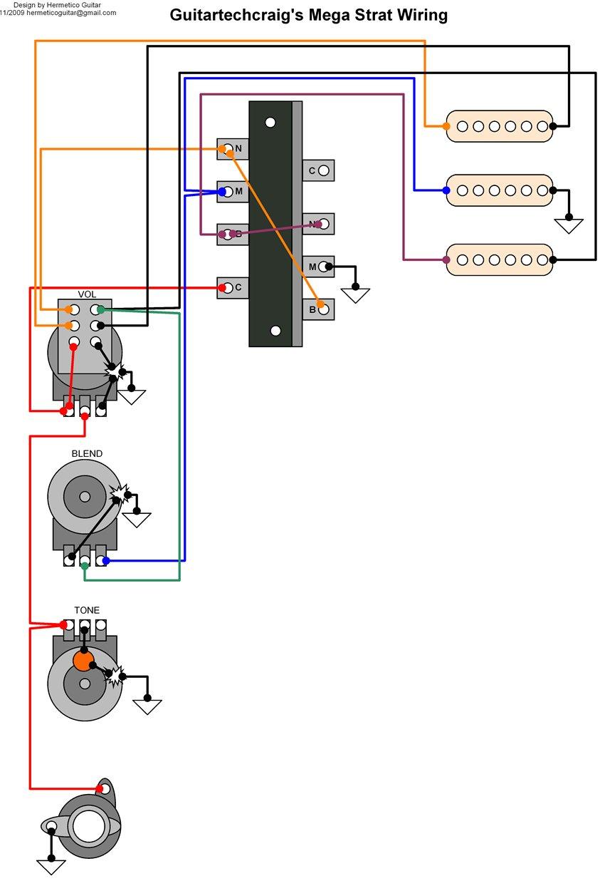 medium resolution of wiring diagram guitar tech craig s mega switch