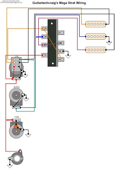 Hermetico Guitar  Wiring Diagram  Guitar Tech Craig U0026 39 S Mega