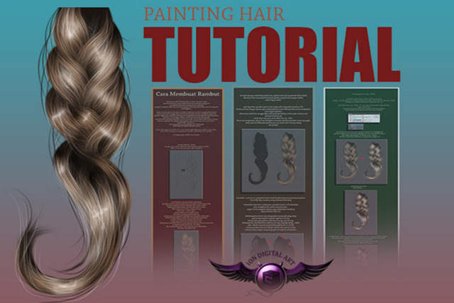 Painting Hair Photoshop –  Tutorial Cara Membuat Rambut