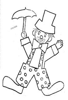 Desenho de palhacinho para colorir
