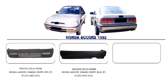 Bemper Honda Accord 1992