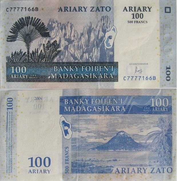 100 ariary madagascar money