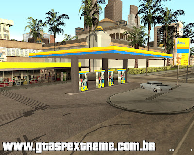 Posto Ipiranga em Los Santos para GTA San Andreas