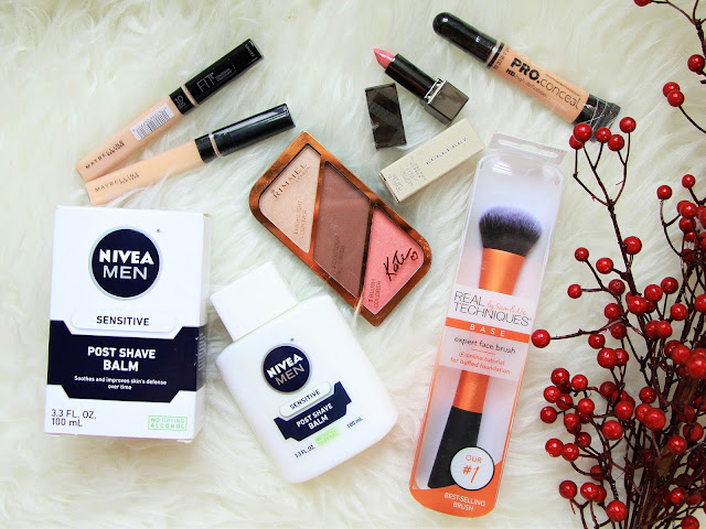 pinapina-biggest-beauty-haul-female-daily-nivea-after-shave-balm-rimmel-kate-real-techniques-la-girl-maybelline-fit-me-concealer-1