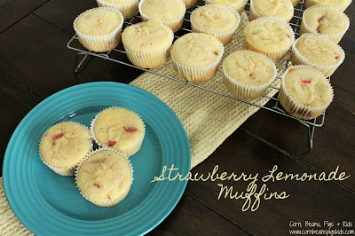Strawberry Lemonade Muffins - Mother's Day, Spring Brunch with #Celebrate365