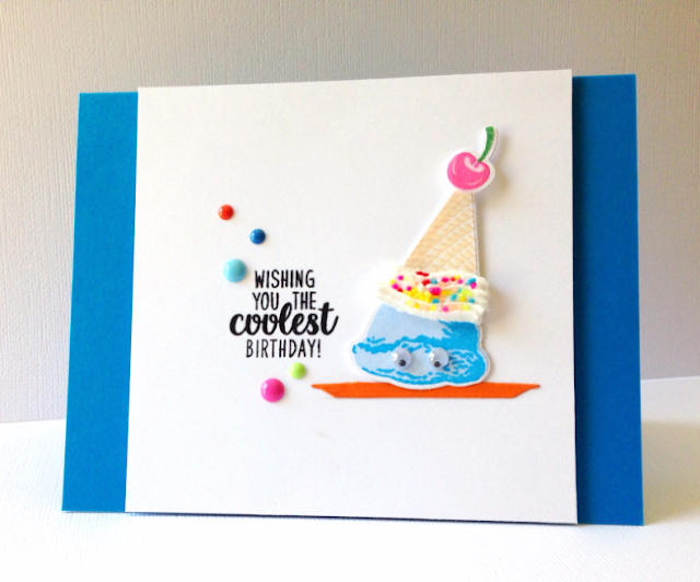 Sunny Studio Stamps: Two Scoops Ice Cream Birthday Card by Blue Scallop Creations