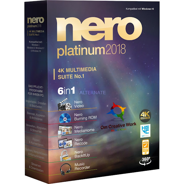 Nero, Nero software, Nero Platinum Suite V19 Free download PC Software