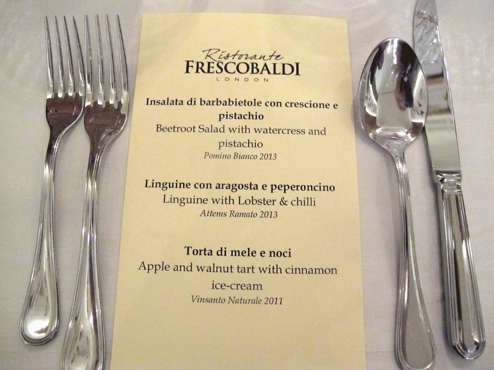 Frescobaldi Italian restaurant in London