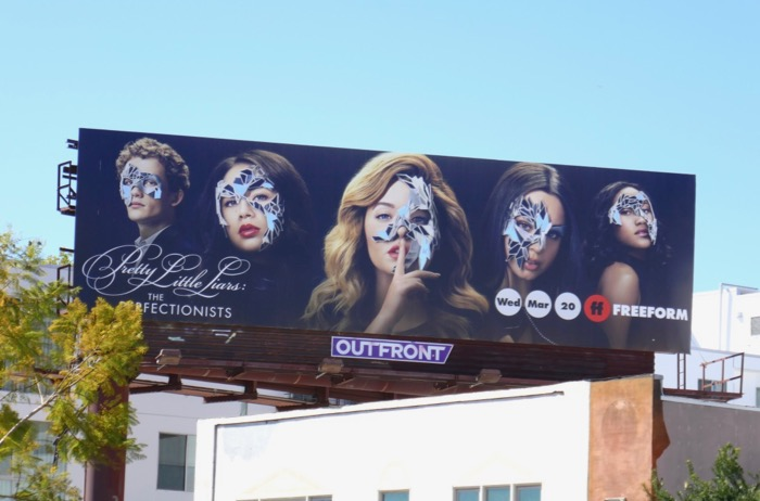 Pretty Little Liars Perfectionists foil billboard
