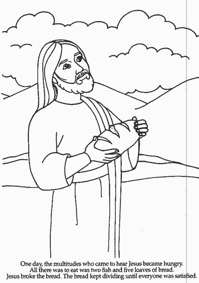Sekolah Minggu Ceria Tuhan Yesus memberi makan Lima ribu