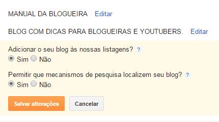 blog aparecer no Google