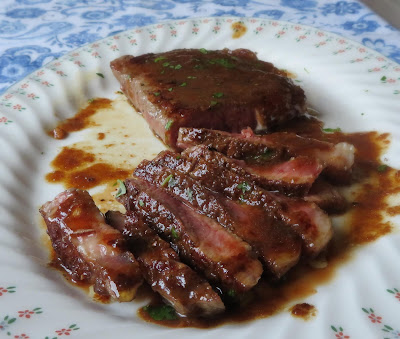 Sirloin Steak with a Ginger Butter Sauce