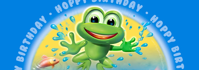 banner panel showing Leapfrog character by Hot Frog Graphics