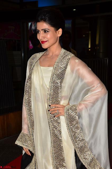 Samantha Ruth Prabhu cute in Lace Border Anarkali Dress with Koti at 64th Jio Filmfare Awards South ~  Exclusive 001.JPG