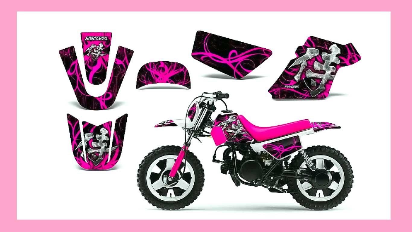 Yamaha PW50 Graphic Pink - Yamaha Old Bikes List
