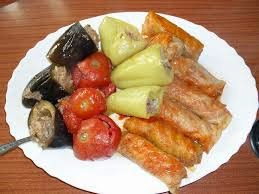 Armenian wrapped and stuffed dolma
