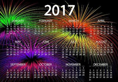 Happy New Year 2017 Calendar