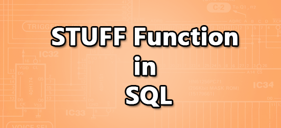 Stuff Function in Sql