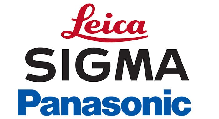 Логотипы Leica, Sigma, Panasonic
