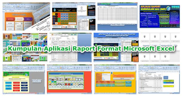 Kumpulan Aplikasi Raport Format Microsoft Excel