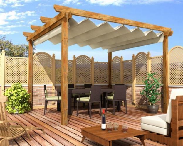 Tonnelles gazebo moderne photos - Terrazas de madera rusticas ...