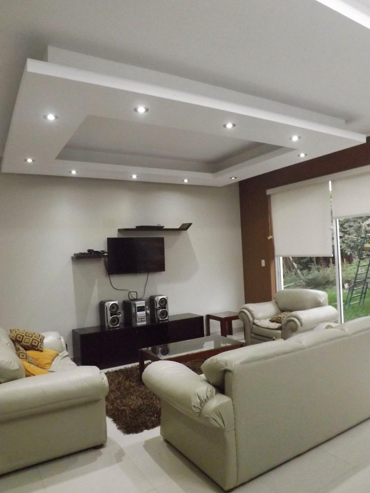 Oniria dise o de salas for Techos de drywall modernos