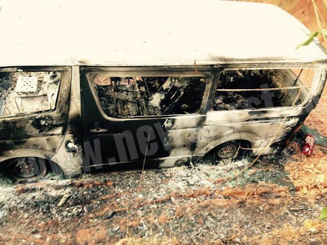 Bodies of five individuals burnt inside a van found from 'Koshenawatta', Irabadagama in Dankotuwa: Police
