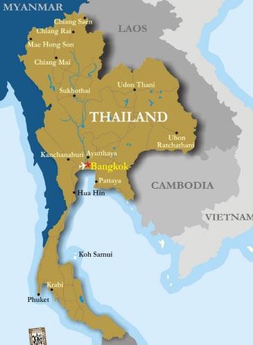 Tanah Genting Kra Terletak Di Negara : tanah, genting, terletak, negara, Profil, Negara, Thailand, Agama,, Penduduk, Pemerintahannya