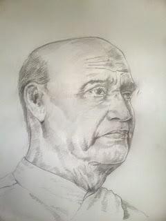 EveryOne Can Draw Iron Man Of India Sardar Vallabhai Patel Portrait