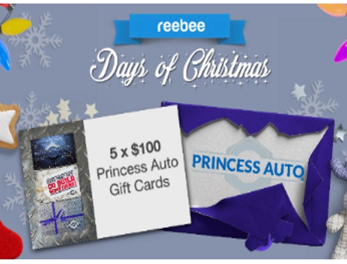 Reebee Princess Auto Gift Card Giveaway