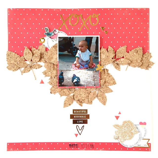 XOXO Scrapbook Layout by Angela Tombari for Crea il tuo Kit con Angela & Giorgia